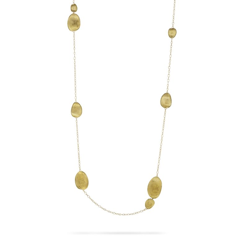 marco bicego lunaria all yellow gold long necklace