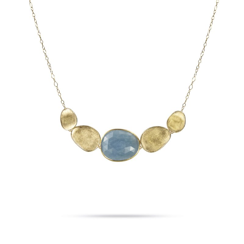 marco bicego lunaria aqua and yellow gold necklace