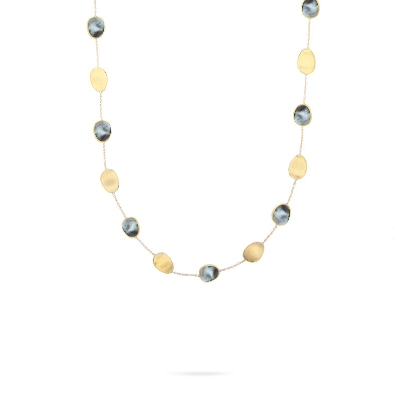 marco bicego lunaria black mother of pearl necklace