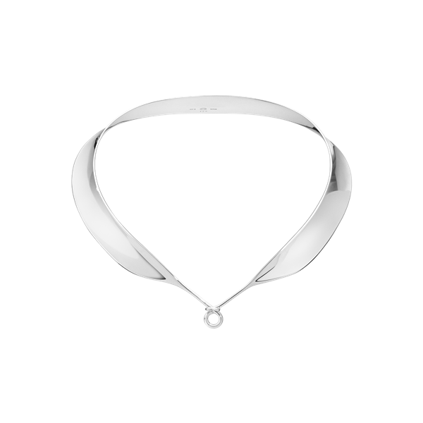 georg jensen dew drop silver collar for pendant