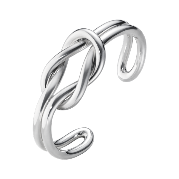 georg jensen silver double row love knot