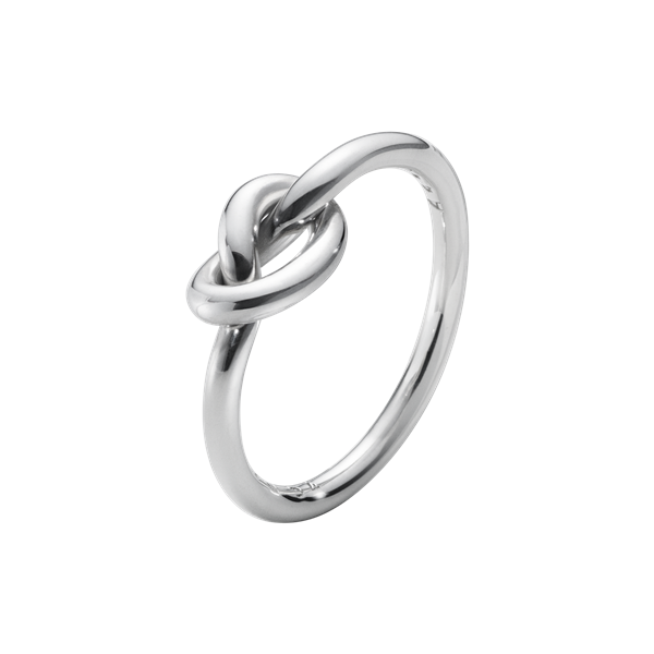 georg jensen silver love knot ring