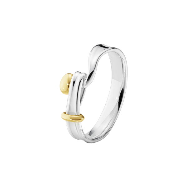 georg jensen torun silver and gold accent ring