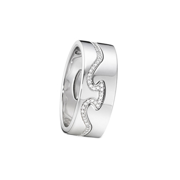 Georg Jensen Fusion white gold diamond line Rings