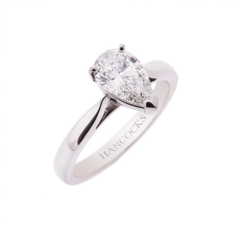 gia-certificated-d-colour-pear-cut diamond-ring