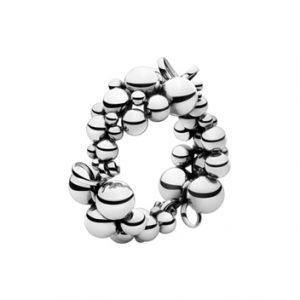 Georg Jensen Moonlight Grapes silver large bangle