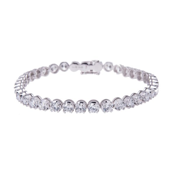 platinum-brilliant-cut-10.00ct-diamond-bracelet