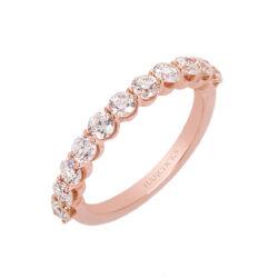 14ct rose gold diamond half eternity ring HC 100719 51