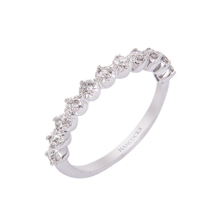 14ct white gold brilliant cut diamond half eternity ring HC 100719 87