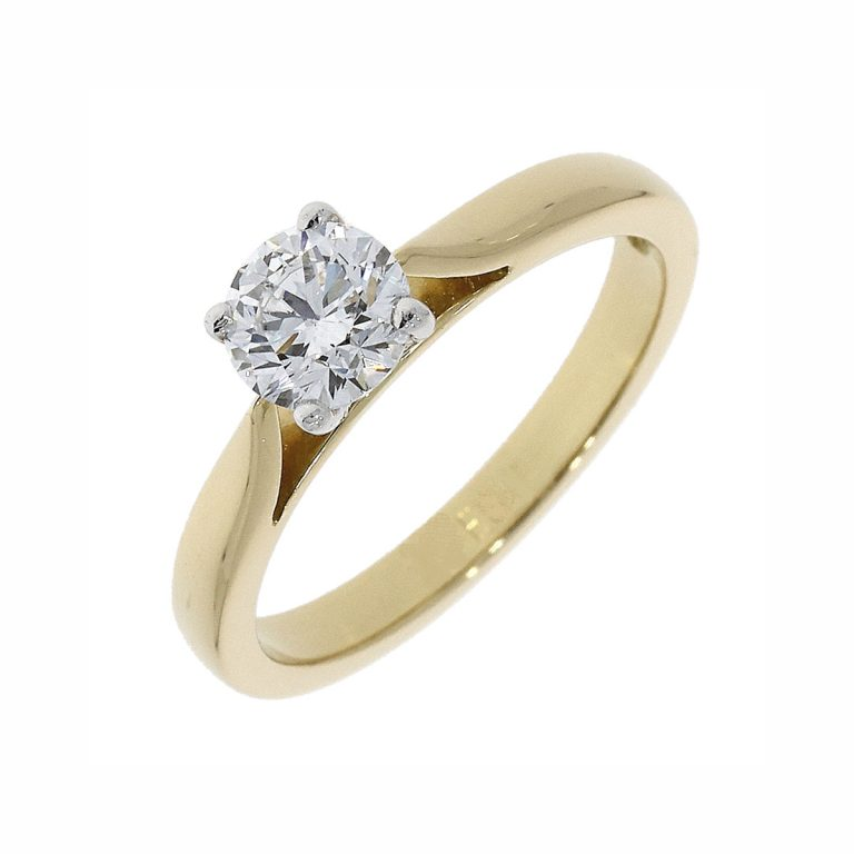 18301 18ct yellow gold dia ring