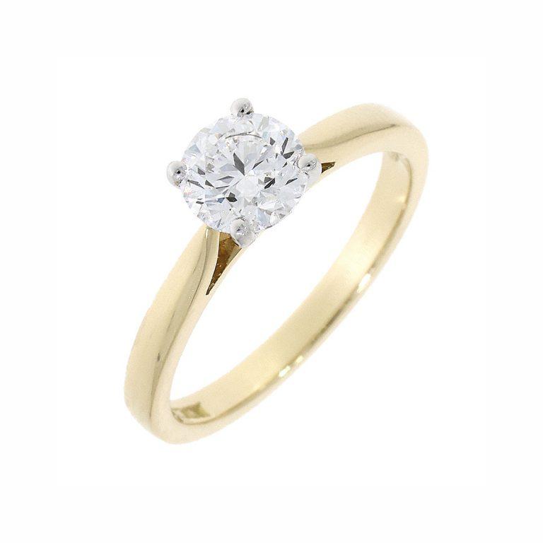 18302 0.80ct brilliant cut diamond s stone ring
