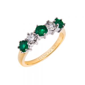 stunning-emerald-and-diamond-half-eternity-ring