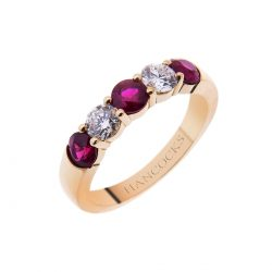 18ct gold ruby and diamond eternity ring 2H 29 improved