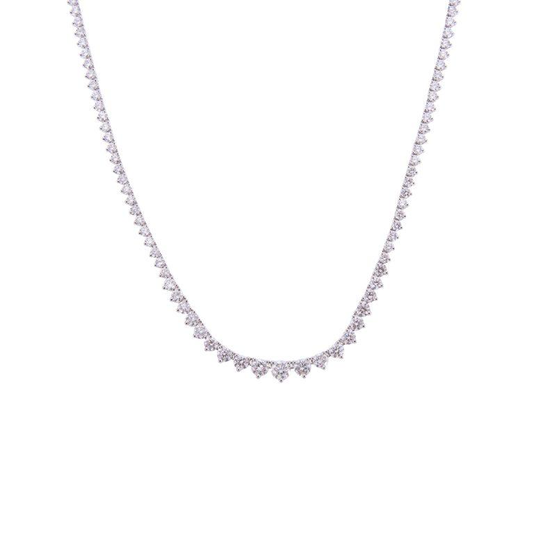 18ct white gold brilliant cut diamond necklet HRC 1