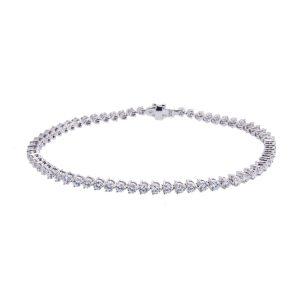 18ct White Gold Diamond Tennis Bracelet H1910 7 1 300x300