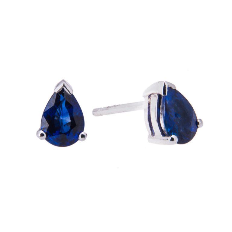 claw-set-pear-cut-sapphire-stud-earrings