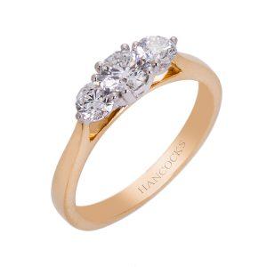18ct Yellow Gold Diamond 3 Stone Engagement Ring HC 100719 65 300x300