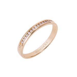 ladies 18ct gold diamond wedding band