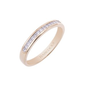 fine princess cut diamond set wedding ring