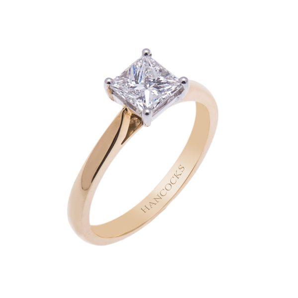 18ct-yellow-gold-princess-cut-diamond-certificated-single-stone-ring