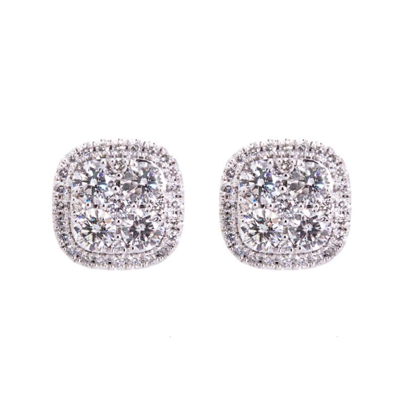 diamond cluster studs