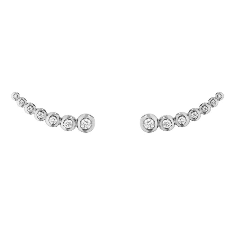 Aurora 18ct white gold diamond set ear cuff