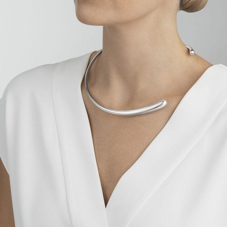 Georg Jensen Mercy silver neckring