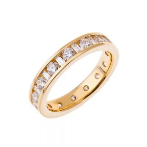 Baguette And Brilliant Cut Diamond Full Eternity Ring HH 37 1 300x300