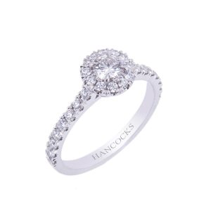 HA 5 Platinum Diamond Cluster Engement Ring 300x300