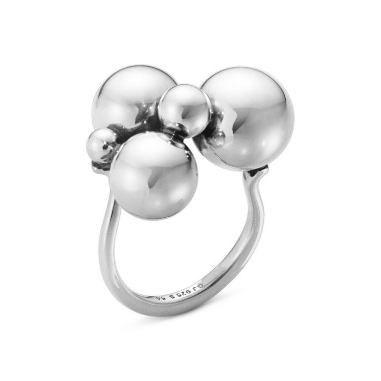 Moonlight Grapes Silver Ring