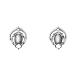2016 HERITAGE earclips oxidised sterling silver