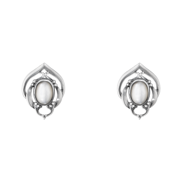 2016 heritage earclips oxidised sterling silver and mother of pearl