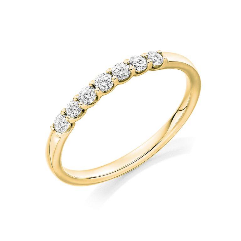 18ct Yellow Gold Ladies Diamond Set Wedding Ring