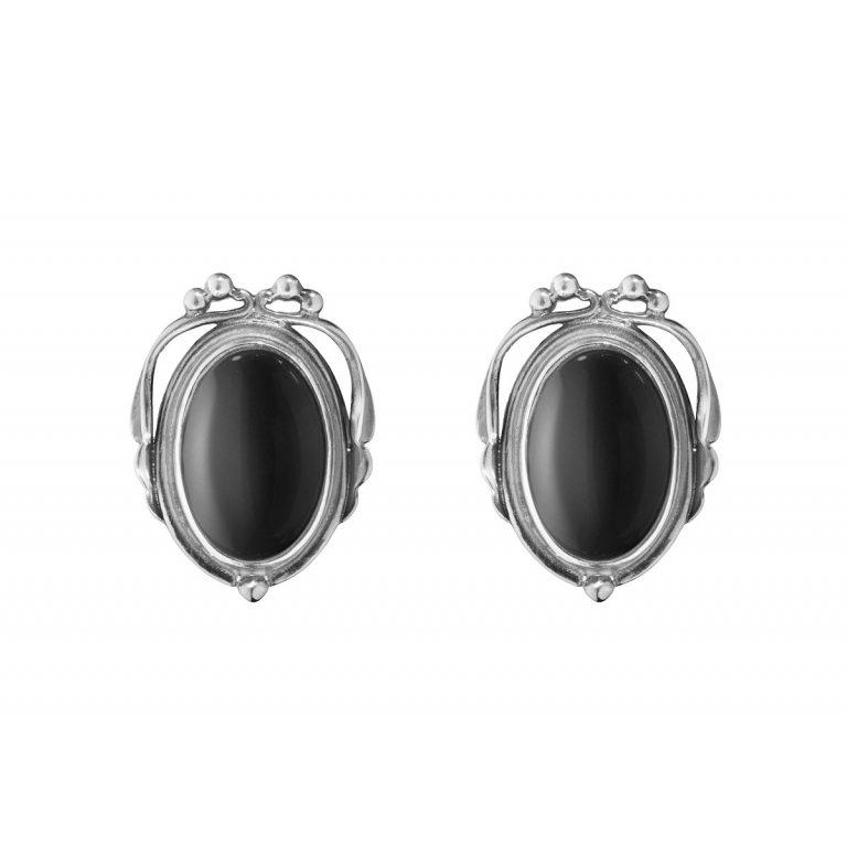Georg Jensen 2017 Heritage black onyx earclips