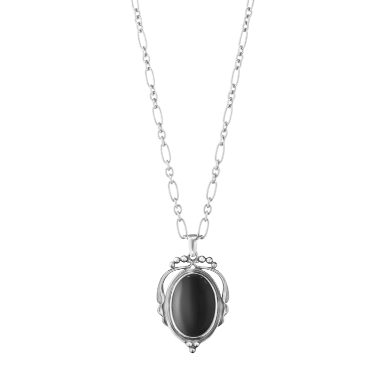 2017 heritage pendant oxidised sterling silver with black onyx