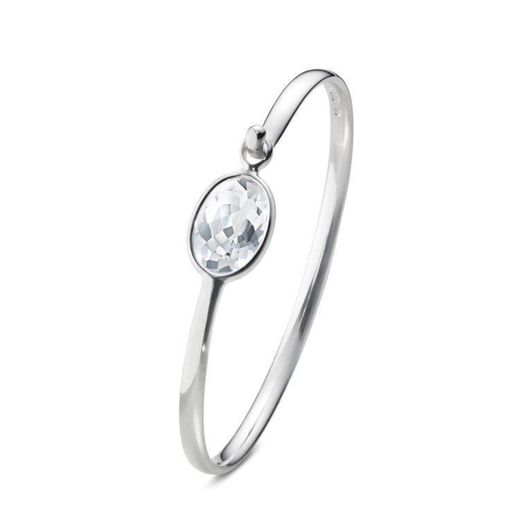 Georg Jensen Savannah silver rock crystal bangle