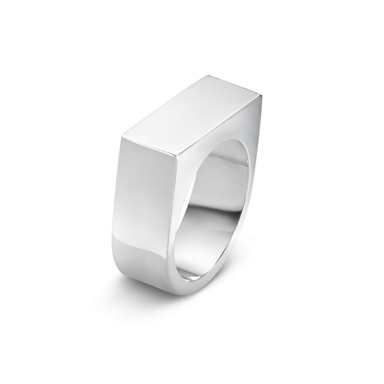 Georg Jensen Aria sterling silver wide ring