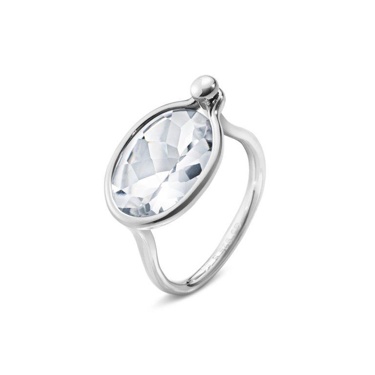 Georg Jensen Savannah rock crystal medium ring