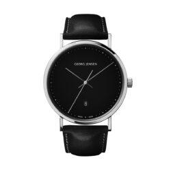 Georg Jensen Koppel 41 mm black dial watch