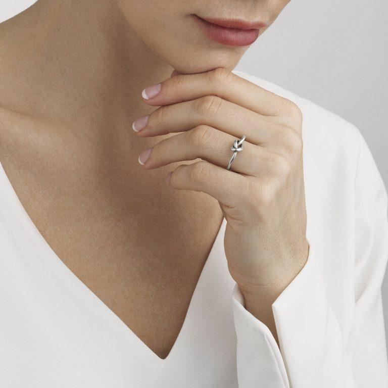 Georg Jensen sterling silver Love Knot ring