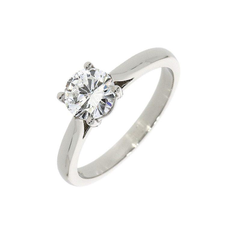 Certificated F Colour Diamond Single Stone Ring