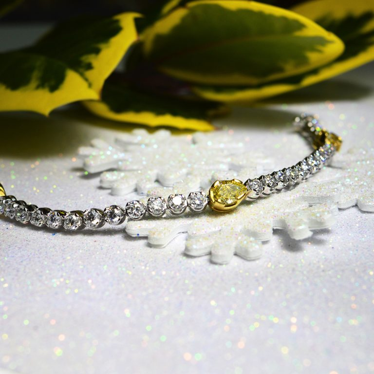 Yellow Diamond Line Bracelet