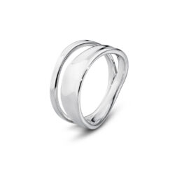 Georg Jensen sterling silver double row Marcia ring