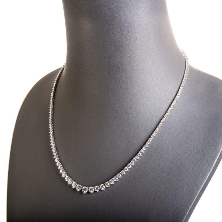 10.00ct Brilliant Cut Diamond Line Necklace