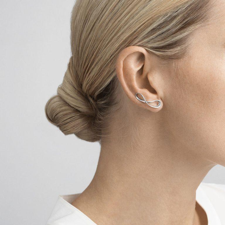 Georg Jensen Infinity sterling silver cuff earrings