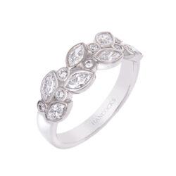 Intricate Platinum Ladies Diamond Set Wedding Ring