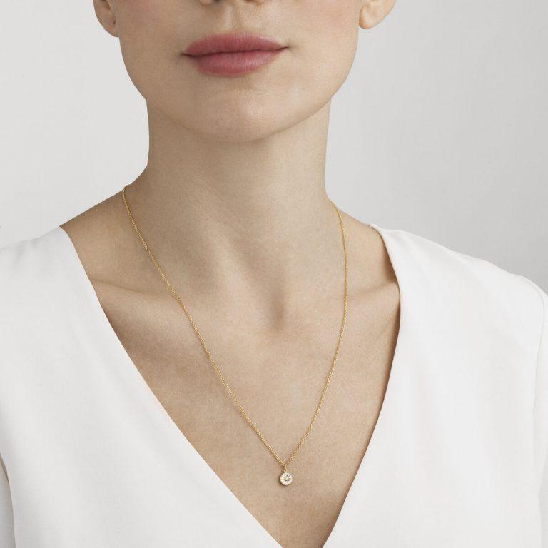 OnModel__10018926 DAISY pendant silver enamel 7mm