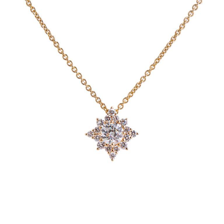 Star Shaped Diamond Pendant