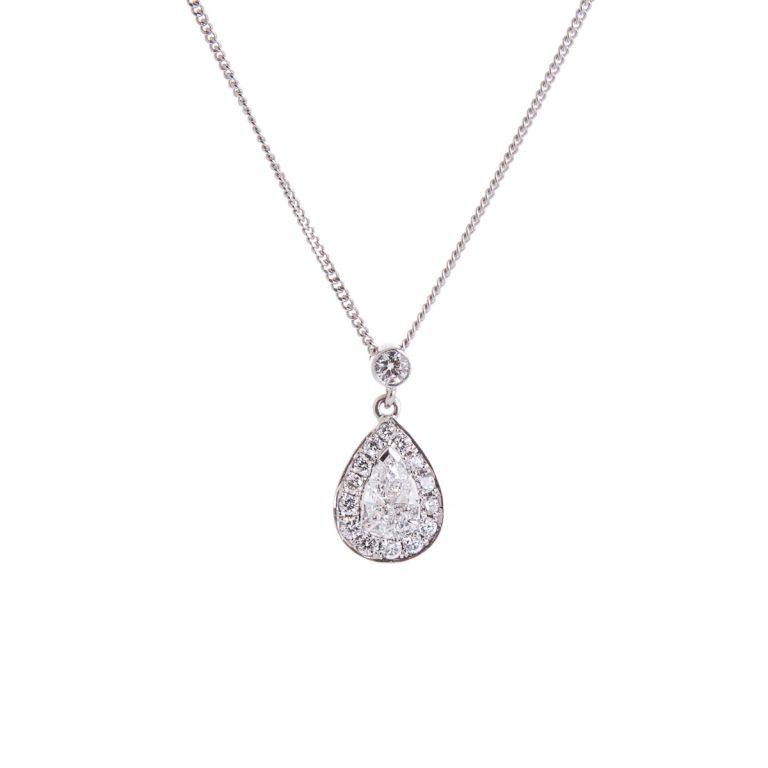 pear-cut-diamond-halo-pendant