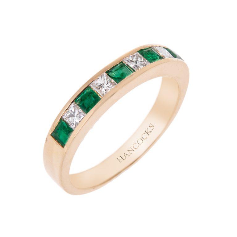 emerald-and-diamond-half-eternity-ring